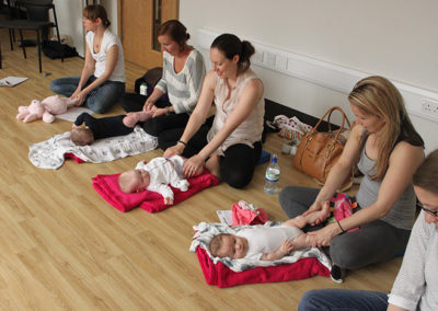 Baby Massage at The Putney Clinic of Physical Therapy. Part of Mums and Babies Clinic service.