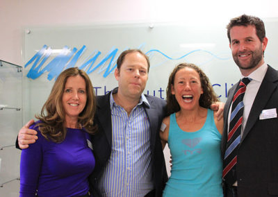4x World Ironman Champion Chrissie Wellington with Cherie & Clive Lathey and Dr Courtney Kipps