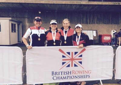 Clinic patient, Jess Lion (2nd from the left), after having won the UK & European Rowing Masters.