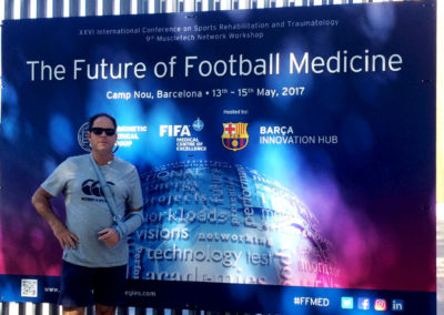 Clive Lathey at The Future of Football Medicine Conference celebrated in Barcelona.