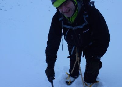 Divyesh Ruperalia, winter training in Scotland, ahead of his attempt at scaling Mount Everest in 2017.