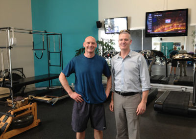 Chris and Paul Vincent, from the Altus Sports Institute, one of The Putney Clinic of Physical Therapy's overseas medical partners.