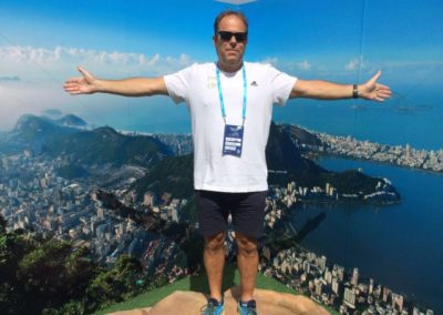 Clive Lahtey on top of the world in Rio.