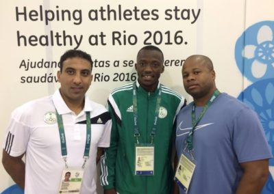 Help athletes stay healthy at Rio 2016. Members of the Saudi Arabian Delegation.