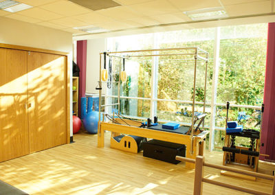 Pilates studio at The Putney Clinic of Physical Therapy.