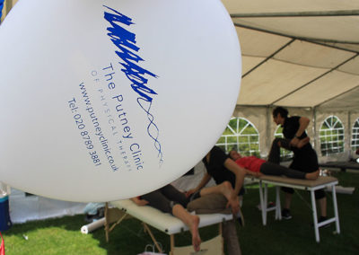 The Putney Clinic of Physical Therapy provided free treatments at The PinkPower Walk 2012, raising money for Breakthrough and The Caron Keating Foundation.