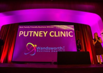 Wandsworth Business Awards 2016. The Putney Clinic won the Best Family Friendly Award