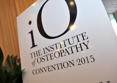 The Institute of Osteopathy Convention 2015