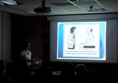 Photo taken during one of CPD evenings for health and fitness professionals.