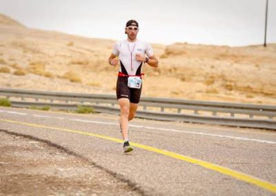 Triathlete Nick Busca competing in the Pyongyang City Marathon