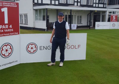 Tom Hawkings, elite golfer, during the English Seniors event.