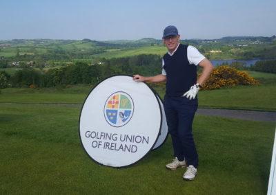 Tom Hawkings, elite golfer, during the Irish Seniors event.