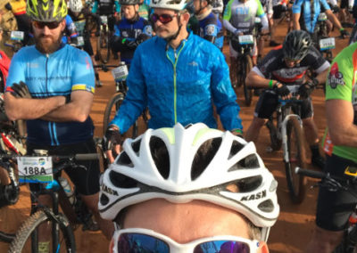 Chris Lewis, Clinic patient participating in charity cycle race from Johannesburg to the South African coast.